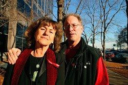 photo of Bill Ayers and Bernardine Dohrn