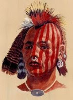 illustration of a native american
