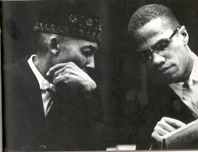 Elijah Muhammad and Malcolm X photo