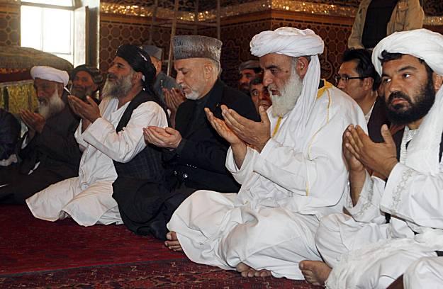 karzai with taliban