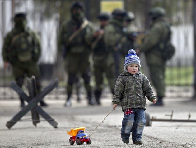 child with truck ukraine