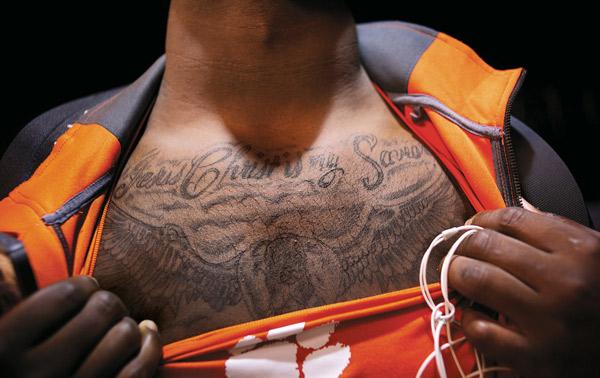 clemson player tattoo