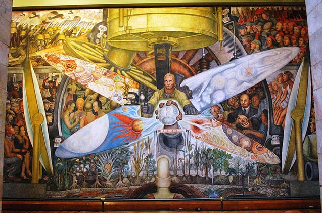 Mark karlin visual arts the left front radical art for Diego rivera lenin mural