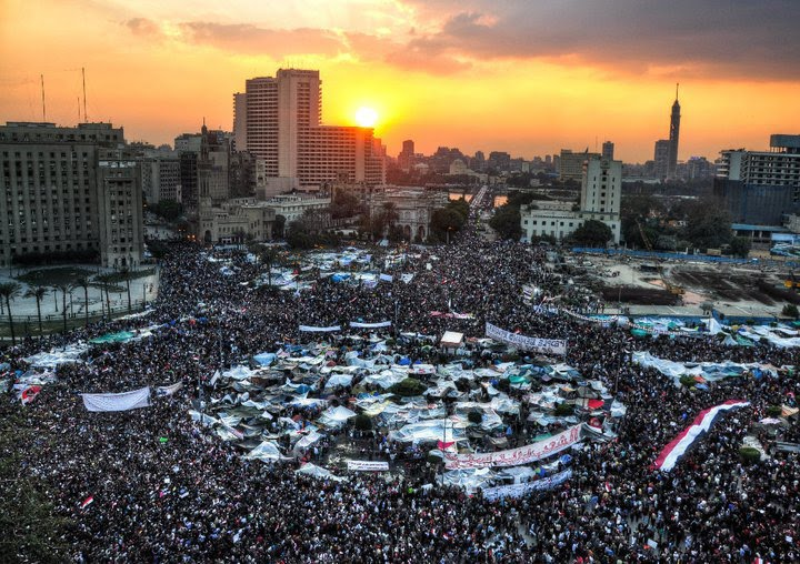 tahrir square sunset