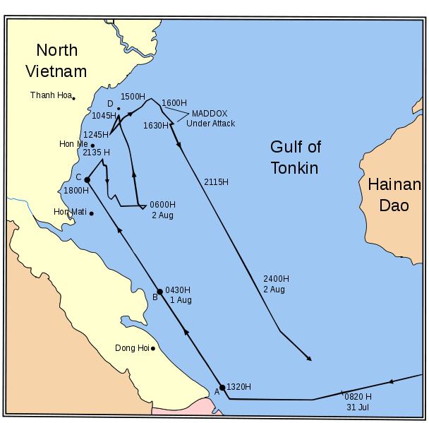 gulf of tonkin map