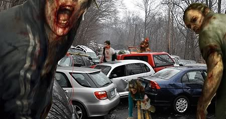 zombies and cars