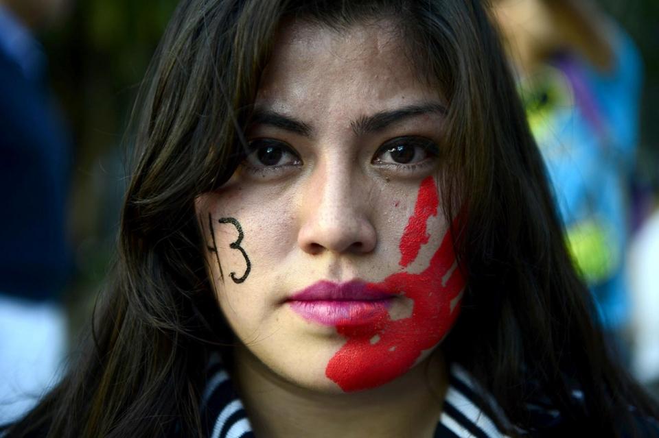mexico city protester