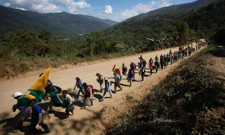 bolivian highway protest