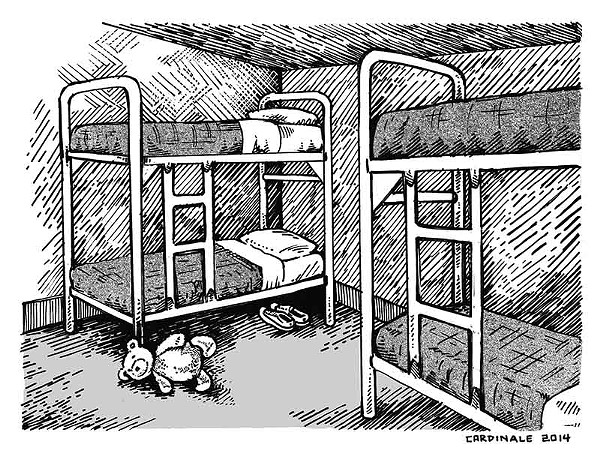 family detention cartoon