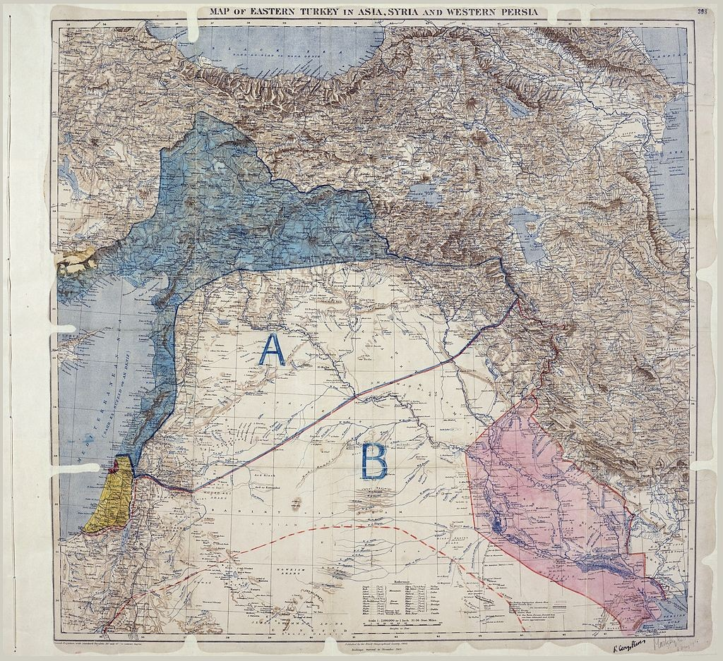 sykes-picot map of 1916