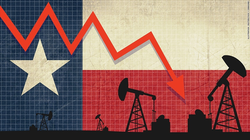 Texas shale oil bust. Image from CNN Money.
