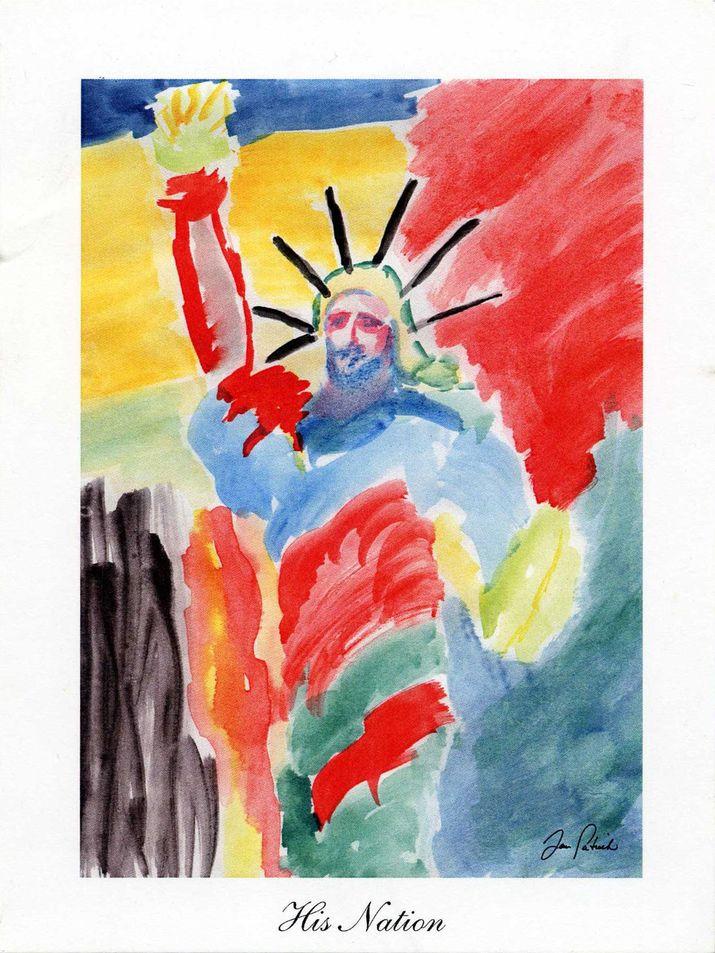 Dan Patrick Watercolor Card