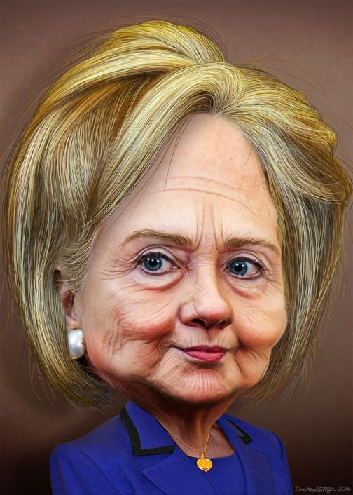 Hillary Clinton DonkeyHotey