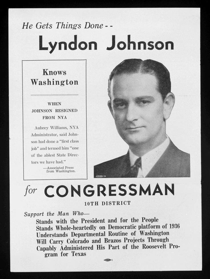 Ivan - LBJ Campaign Poster, 1937