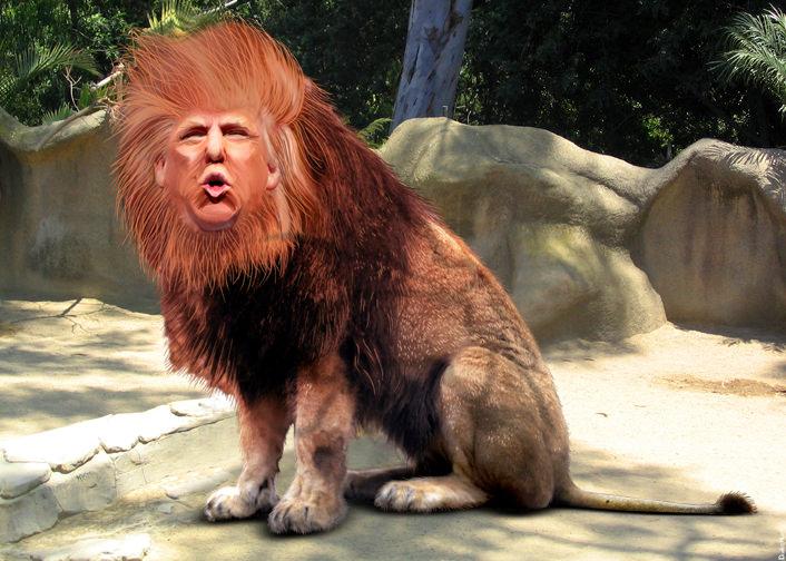 Donald Trump lion