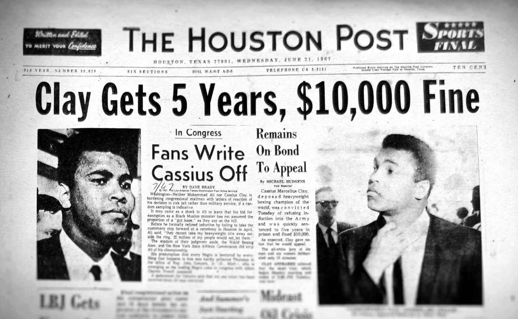 Muhammad Ali Houston Post