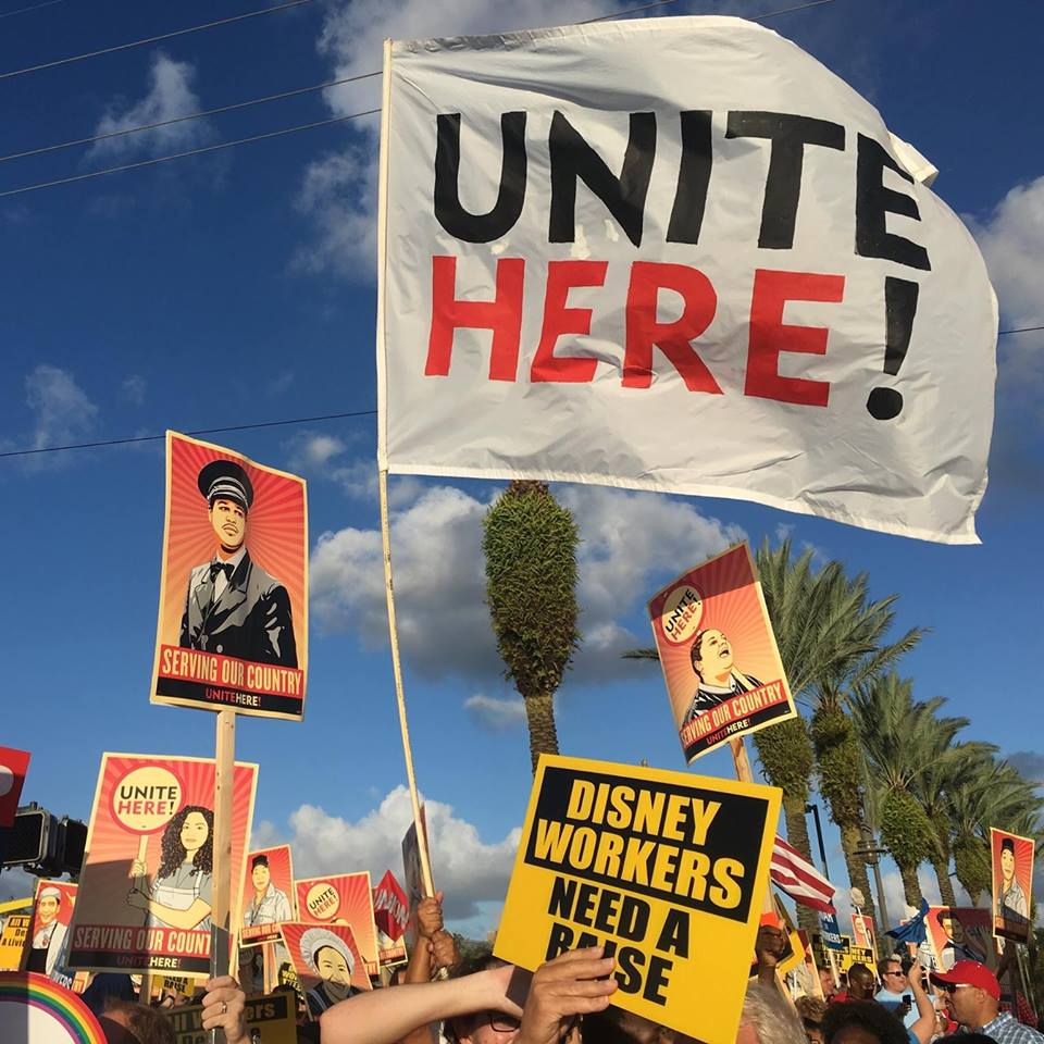 jay d. jurie : workers' demonstrations at magic kingdom just